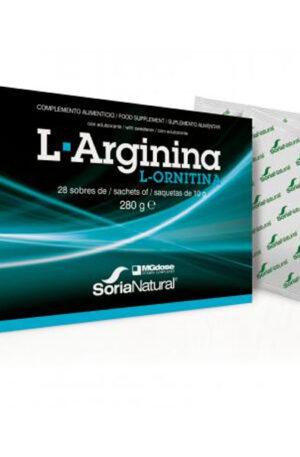 L-Arginina + L-ornitina Soria Natural