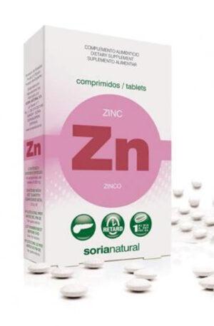 ZINC COMPRIMITS RETARD Soria Natural