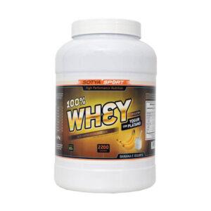 100% Whey Yogur con Plátano 2,2 kg