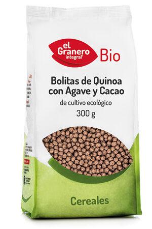 Bolitas de Quinoa con Ágave y Cacao Bio Granero Integral