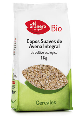 Flocs Suaus de Civada Integral Bio, 1 Kg El Granero