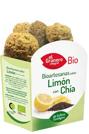 Galetes Artesanes sabor Llimona amb Chía Granero Integral
