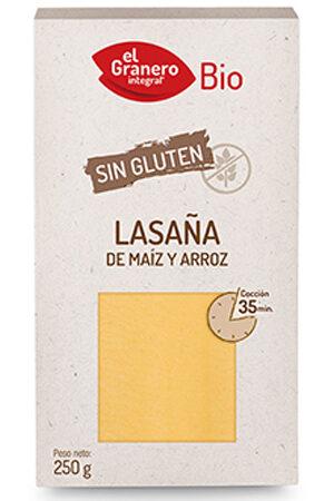 Làmines Lasanya sense gluten Bio Granero Integral