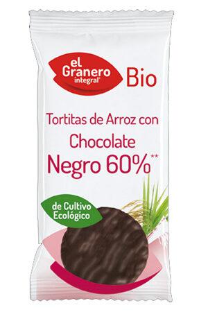 Tortitas d'Arròs amb Xocolata Negra Bio Granero Integral
