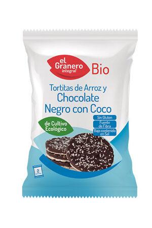 Tortitas d'Arròs amb xocolata negra i Coco Bio Granero Integral