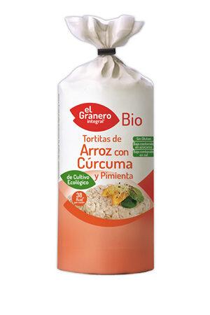 Tortitas d'Arròs amb Cúrcuma i Pebre Sense Gluten Bio Granero Integral