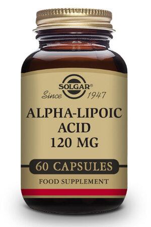 Ácido Alfa-Lipoico 120 mg Solgar – 60 Caps