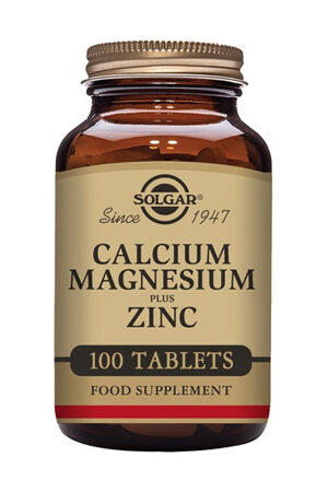 Calci Magnesi Plus Zinc Solgar 100 comp