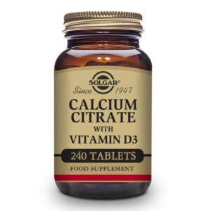 Citrato de Calcio con Vitamina D3 - 240 Comp