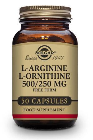 L-Arginina 500 mg / L-Ornitina 250 mg Solgar