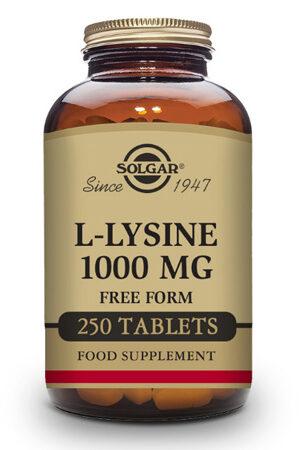 L-Lisina 1000 mg Solgar – 250 Comp