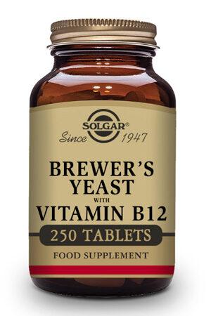 Levadura de Cerveza con Vitamina B12 Solgar