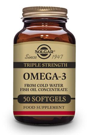 """Omega-3 """"Triple Concentració"""" Solgar – 50 perles"""