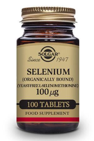 Selenio 100 µg (Sin levadura) Solgar – 100 Comp
