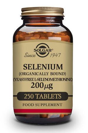 Seleni 200 µg (Sense llevat) Solgar – 250 Comp