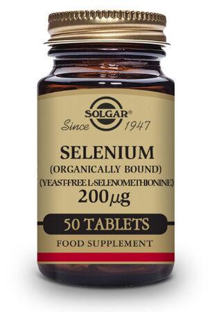 Seleni 200 µg (Sense llevat) Solgar – 50 Comp