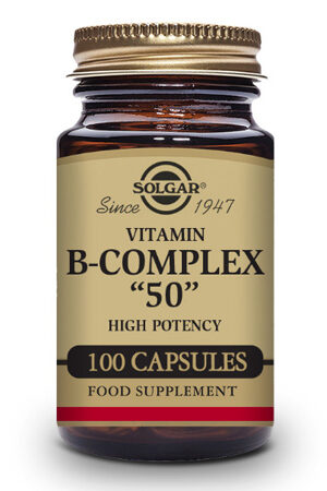 """Vitamina B-Complex """"50"""" Alta potència Solgar- 100 Cáps"""