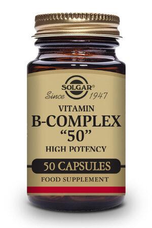 """Vitamina B-Complex """"50"""" Alta potència Solgar – 50 Cáps"""