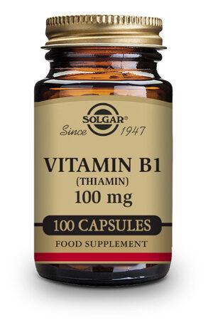 Vitamina B1 100 mg (Tiamina) Solgar