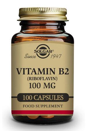 Vitamina B2 100 mg (Riboflavina) Solgar