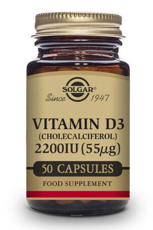 Vitamina D3 2200 UI Solgar 50 caps