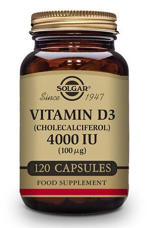 Vitamina D3 4000 UI Solgar 120 capsulas