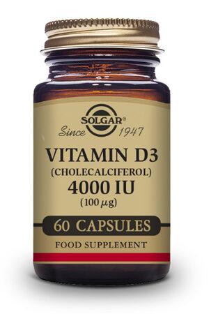 Vitamina D3 4000 UI Solgar 60 capsulas