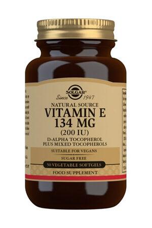 Vitamina E 200 UI Solgar (134 mg) – 50 perles