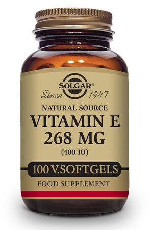 Vitamina E 400 UI Solgar (268 mg) – 100 perles