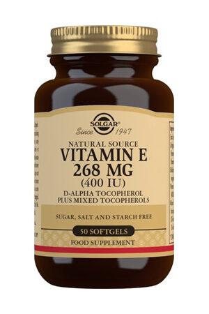 Vitamina E 400 UI Solgar (268 mg) -50 perles
