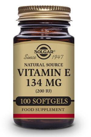 """Vitamina E """"Seca"""" 200 UI Solgar-100 perles"""