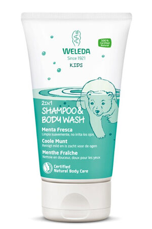 Xampú i Gel 2 en 1 de Menta Xampú Infantil de Weleda
