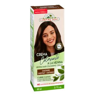 Crema Colorante a la Henna Castaño Corpore Sano