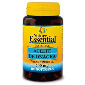 Aceite de onagra 500 mg. Nature Essential 100 perlas