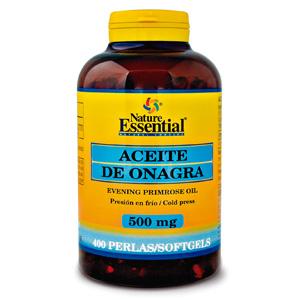 Aceite de onagra 500 mg. Nature Essential 400 perlas