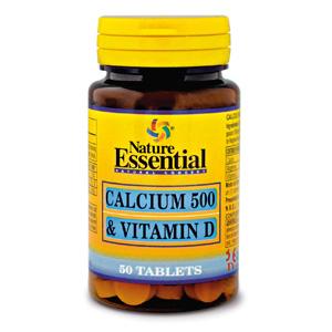 Calcio 500 + vitamina D Nature Essential
