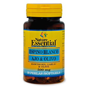 Espino blanco + ajo + olivo 500 mg. Nature Essential