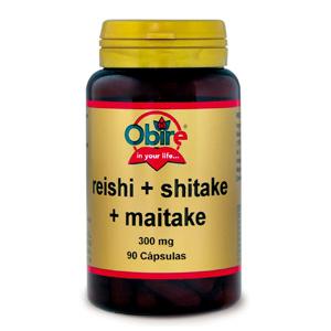 Reishi + shitake + maitake 300 mg. Obire