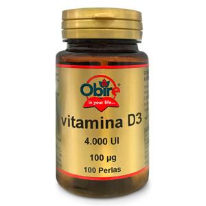 Vitamina D3 100 mcg. (4000 U.I) Obire 100 perlas